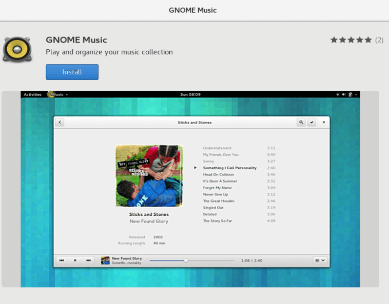gnome-music-player