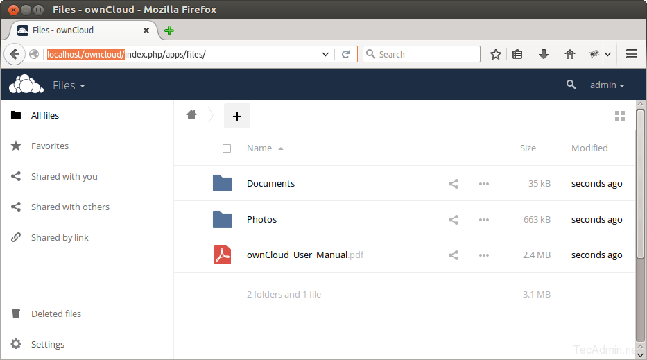 owncloud-after-login