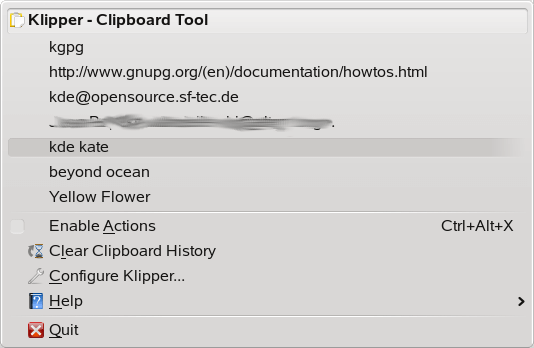 klipper-clipboard-manager