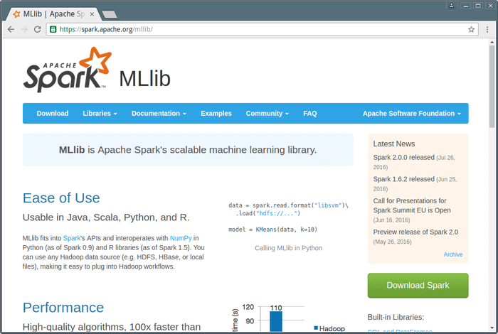 mllib-machine-learning-library