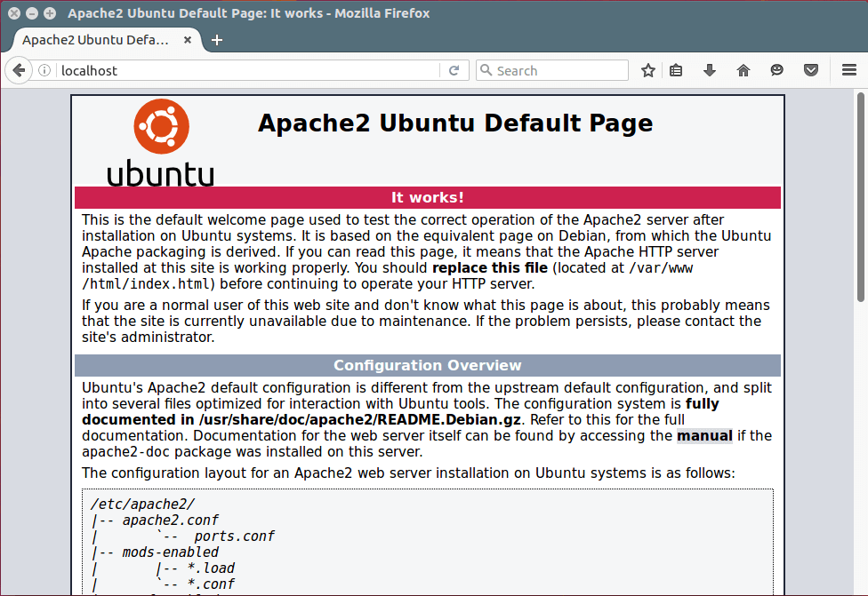 apache-default-page-under-ubuntu-16-04